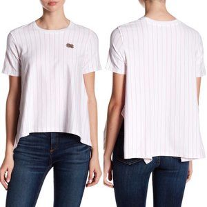 Opening Ceremony Striped Delta Tee Hanky Hem Patch